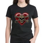 Pirate Love Heart & Skull T-Shirt