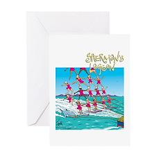 Waterskiing Greeting Card