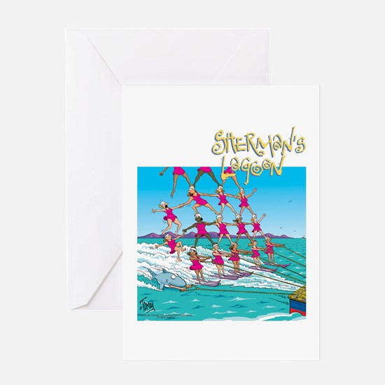 Waterskiing Greeting Card