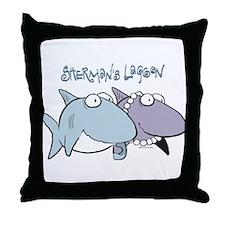 Sherman & Megan with Logo Throw Pillow