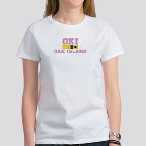 Oak Island NC - Nautical Flags Design Women's T-Sh