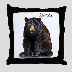 American Black Bear Throw Pillow