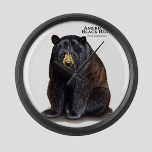 American Black Bear Large Wall Clock