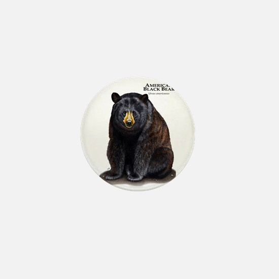 American Black Bear Mini Button