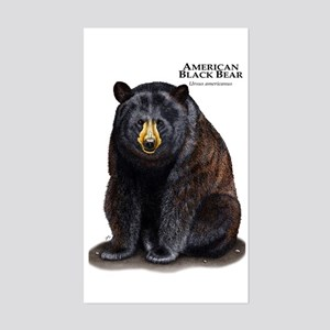 American Black Bear Sticker (Rectangle)