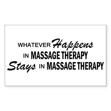 Whatever Happens - Massage Therapy Sticker (Rectan