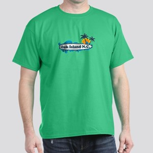 Oak Island NC - Surf Design Dark T-Shirt