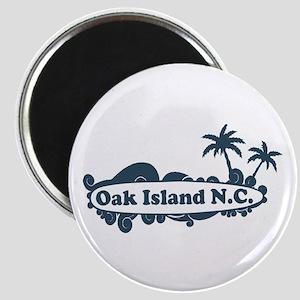 Oak Island NC - Surf Design Magnet