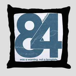 1984 Big Brother Orwell Throw Pillow