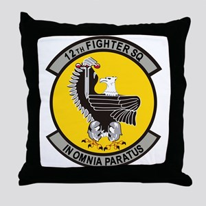12th Fighter Squadron Throw Pillow