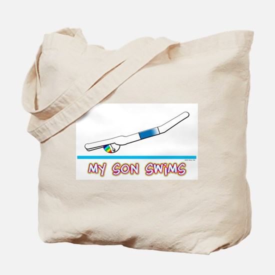 My Son Swims Tote Bag