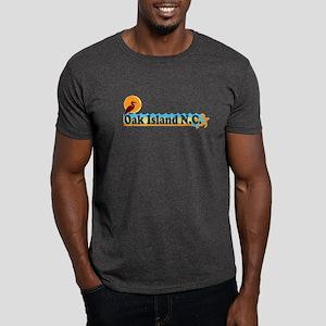 Oak Island NC - Beach Design Dark T-Shirt