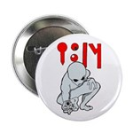 """Wanted Poster Alien 2.25"""" Button (10 pack)"""