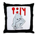 Wanted Poster Alien Throw Pillow