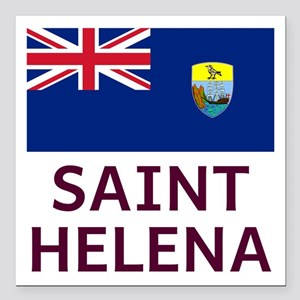 "Saint Helena Square Car Magnet 3"" X 3"""