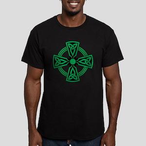 Celtic Cross Men's Fitted T-Shirt (dark)