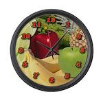 Large Fruit Wall Clock