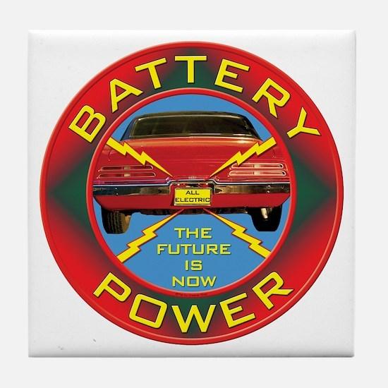 Battery Power Tile Coaster