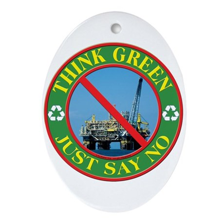 Say no to oil Ornament (Oval)