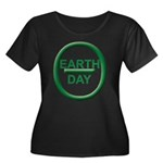 Earth Day Women's Plus Size Scoop Neck Dark T-Shir