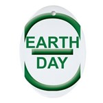 Earth Day Ornament (Oval)