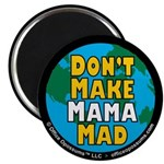 "Office Opossums 2.25"" Mama Earth Magnet (10 p"