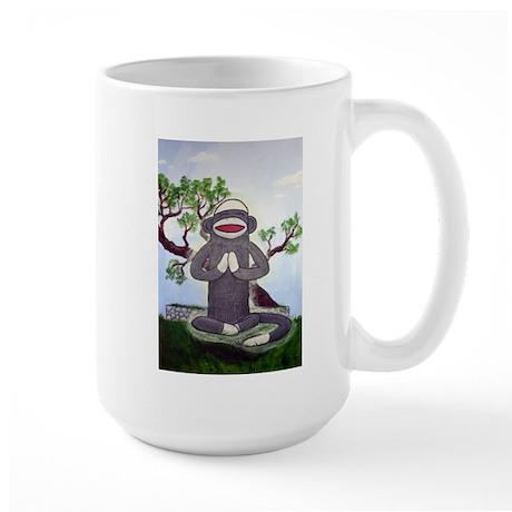 Sock Monkey Nirvana Large Mug