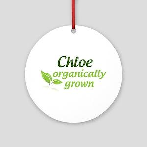 Organic Chloe Ornament (Round)