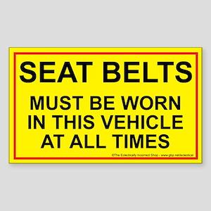 Fasten those belts Sticker (Rectangle)