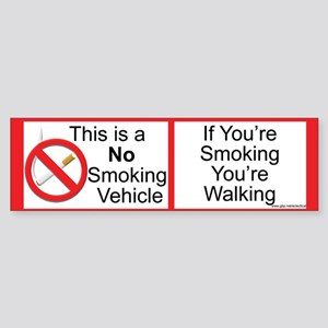 Smokeless vehicle Sticker (Bumper)