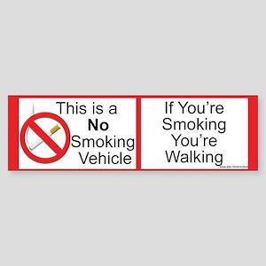 Smokeless vehicle Sticker (Bumper)