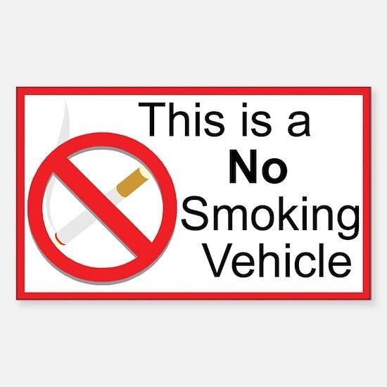 No Smoking Sticker (Rectangle 10 pk)