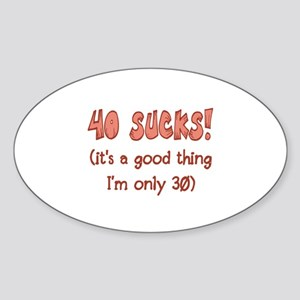 30th Attitude Sucks Sticker (Oval)