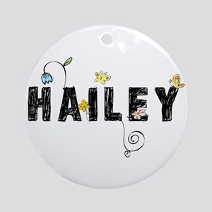 Hailey Floral Ornament (Round)