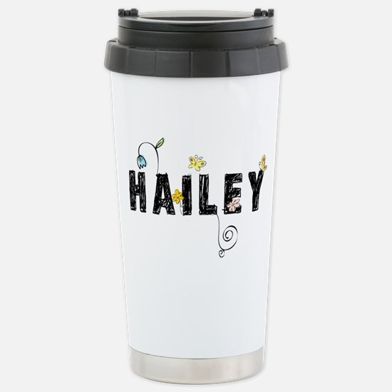 Hailey Floral Stainless Steel Travel Mug