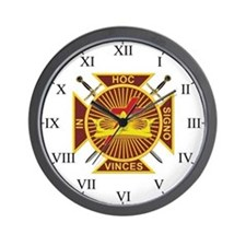 Masonic Knights Templar Wall Clock