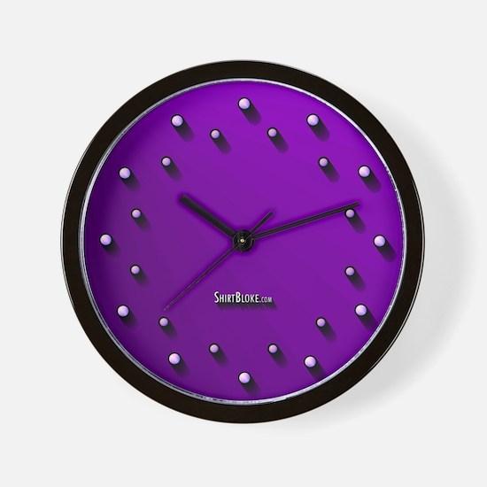 Purple Light Curious Wall Clock