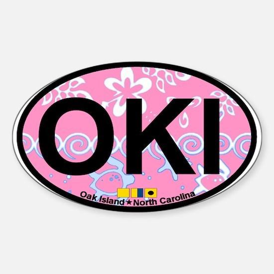 Oak Island NC - Oval Design Sticker (Oval)