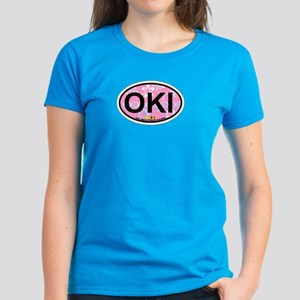 Oak Island NC - Oval Design Women's Dark T-Shirt