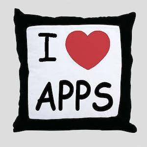 I heart apps Throw Pillow