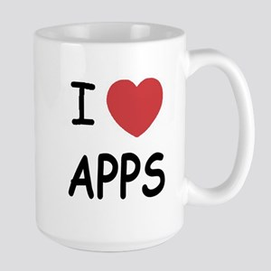 I heart apps Large Mug