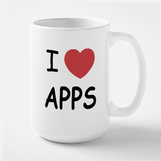 I heart apps Large Mug