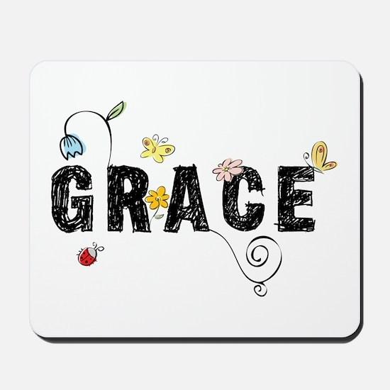 Grace Floral Mousepad