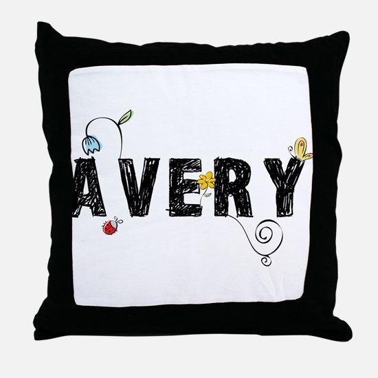 Avery Floral Throw Pillow