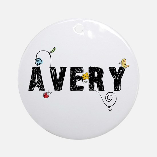 Avery Floral Ornament (Round)