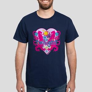 Twilight Girl Hearts and Flowers Dark T-Shirt