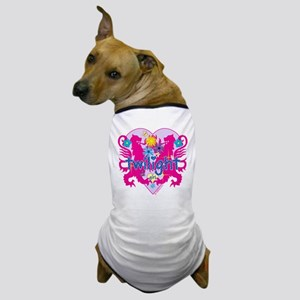 Twilight Girl Hearts and Flowers Dog T-Shirt