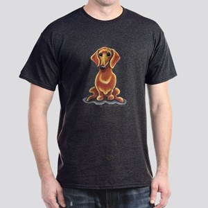 Smooth Red Dachshund Dark T-Shirt