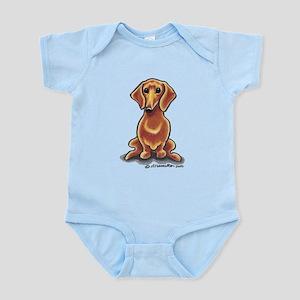 Smooth Red Dachshund Infant Bodysuit