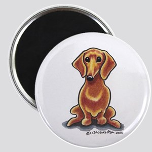 Smooth Red Dachshund Magnet